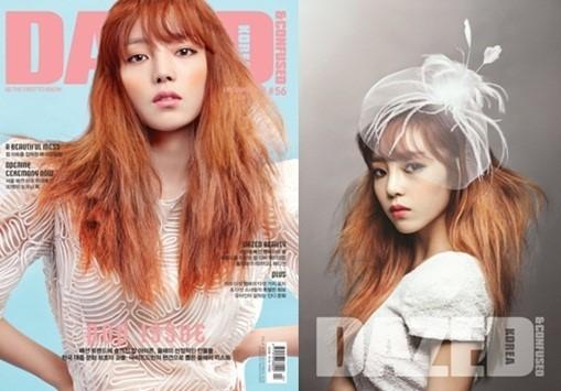 KARAク・ハラ、透き通る肌の雪の女王に変身!KARAメンバー全員が雑誌の表紙を飾る