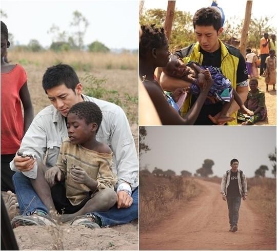 コス、アフリカで貧困に苦しむ子供たちに希望を伝える