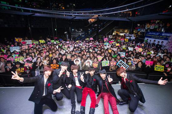 BOYFRIEND(ボーイフレンド) 東京ジョイポリスとのスペシャルコラボレーション オープニングイベントに登場!
