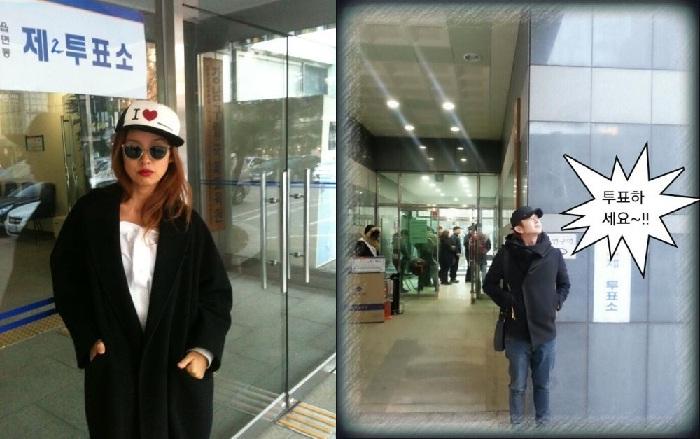 韓流スターも大統領選挙に続々と投票!
