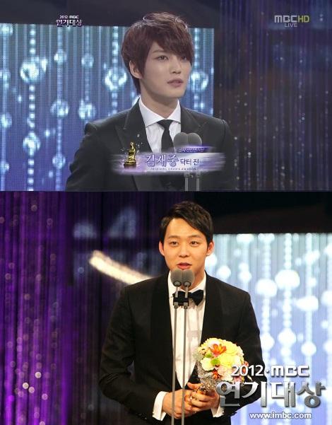 JYJキム・ジェジュン、パク・ユチョン、揃って新人賞と優秀演技賞を受賞