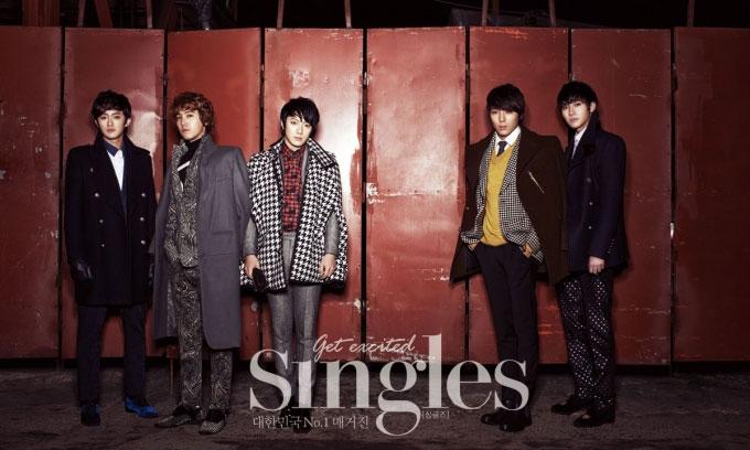 韓国雑誌シングルズ1月号FTISLANDの写真