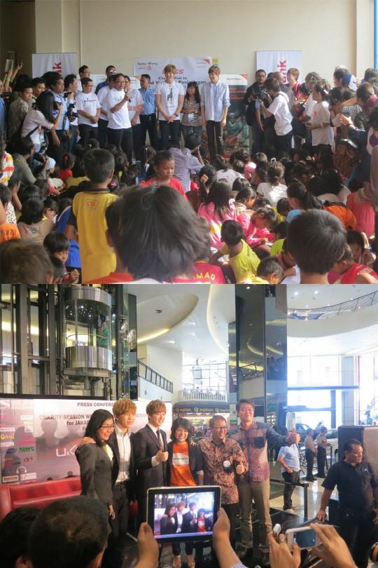 U-KISS、インドネシアの洪水被害者を支援