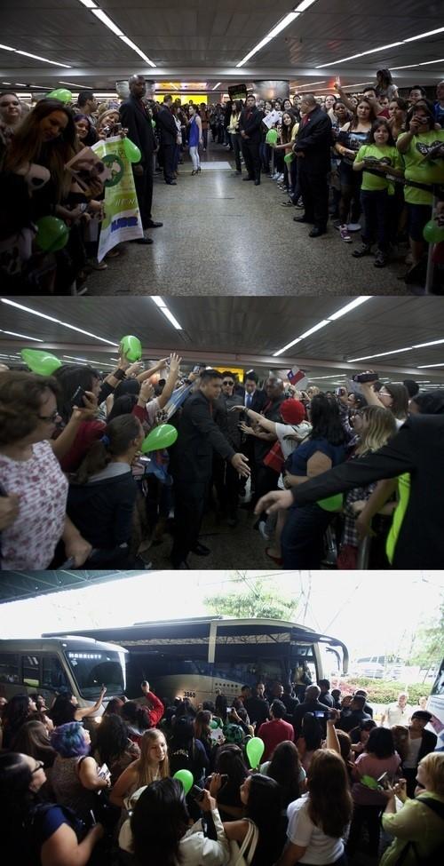 キム・ヒョンジュン、初のブラジル訪問に現地ファン大熱狂