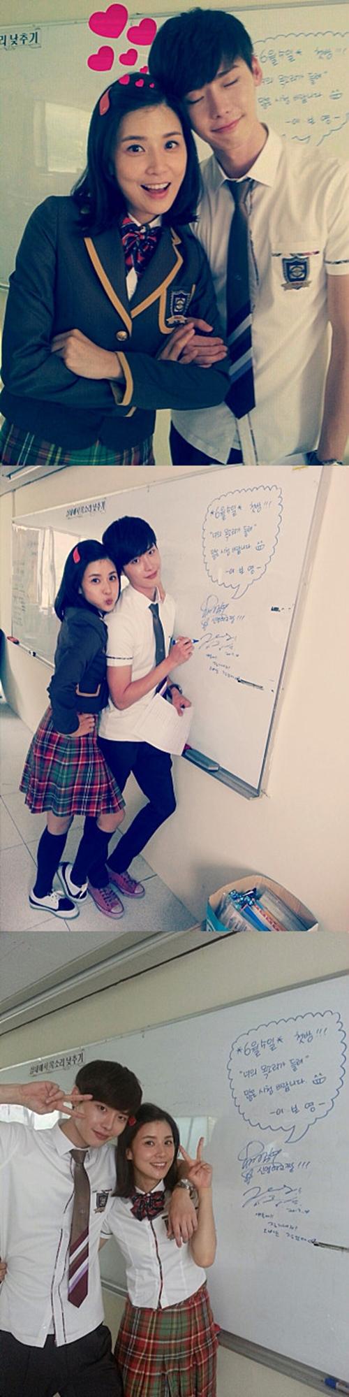 イ・ジョンソクとイ・ボヨン、年の差10歳の高校生カップルに大変身!