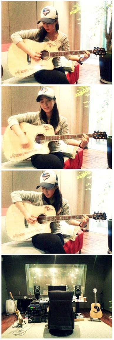 少女時代ユリ、指にまめができるほどギター練習に夢中
