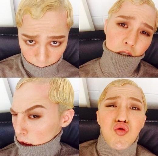 BIGBANG G-DRAGONそばかす少年に変身!セルフショット写真4枚を公開