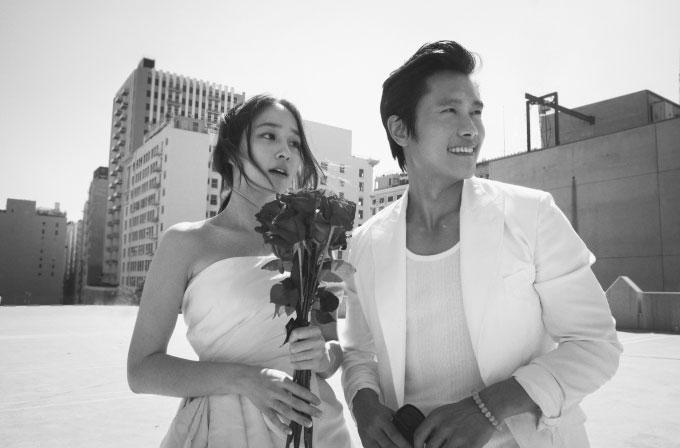 イ・ビョンホン&イ・ミンジョン、ラブラブ結婚記念写真を公開!