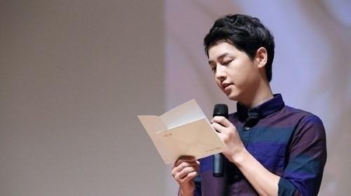 俳優ソン・ジュンギ、入隊前最後のファンミーティングで見せた涙!