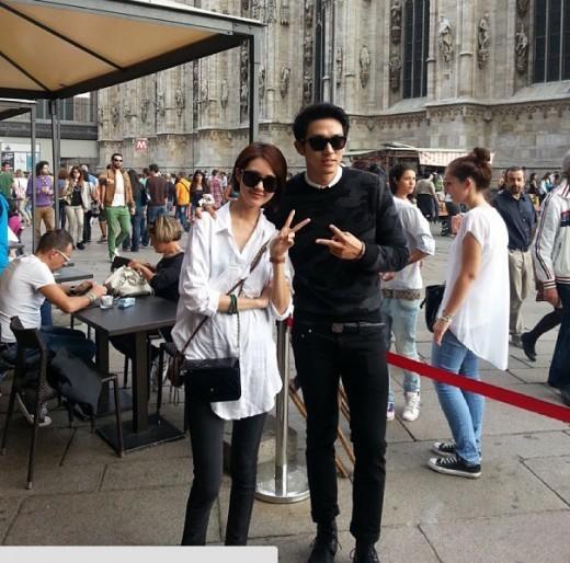 2AMイム・スロン、ミラノでの女優イ・ヨウォンと恋人同士のようなツーショット写真を公開!