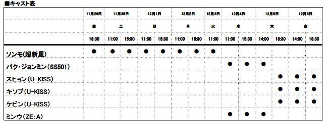 ソンモ(超新星)、パク・ジョンミン(SS501)、スヒョン・キソプ・ケビン(U-KISS)、ミンウ(ZE:A) ミュージカル「Summer Snow」尼崎公演が決定!