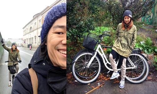 イ・ヒョリ&イ・サンスンのラブラブ新婚旅行は、ヨーロッパで自転車にまたがって幸せ時間!