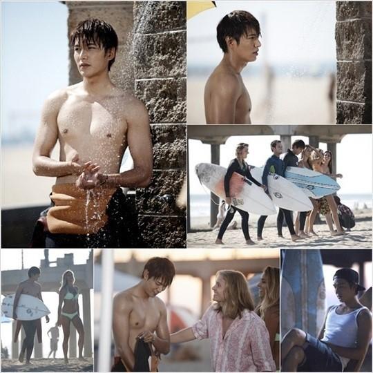 SBS新ドラマ「相続人たち」イ・ミンホ、LAマリブビーチで上半身露出!引き締まった筋肉見せる