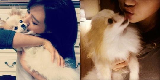 少女時代ユリ、愛犬ハニーとキス!「私だけの片思い!?」