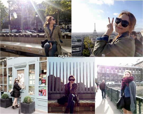 チョン・ジュニョンの仮想妻チョン・ユミ、パリ旅行写真を公開!