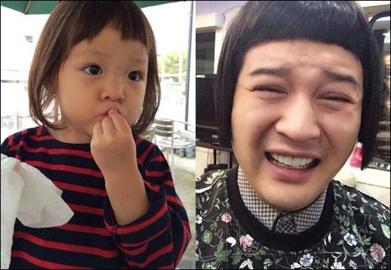 これは似てるのか?!SUPER JUNIOR(スーパージュニア)シンドン、韓国で今大人気の秋山成勲の愛娘サランちゃんをパロディ!