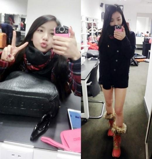 「生活密着アイドル」RAINBOWジスク、キュートな表情と脚線美のセルフショット公開!