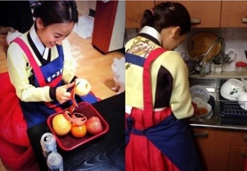 イ・ヒョリ、嫁いで初めての旧正月で韓服を着た韓国の嫁な姿を公開!
