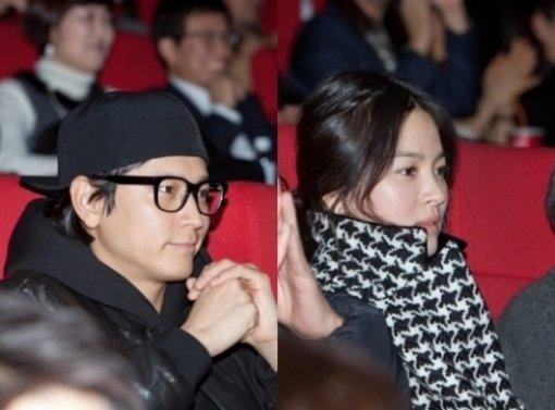 ソン・ヘギョ&カン・ドンウォン、映画「官能の法則」VIP試写会へ