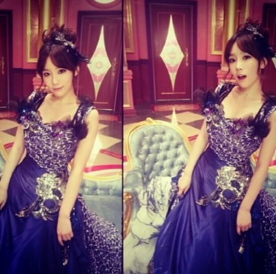少女時代テヨン、レオパード柄のドレス姿を公開!まるでお姫様みたい