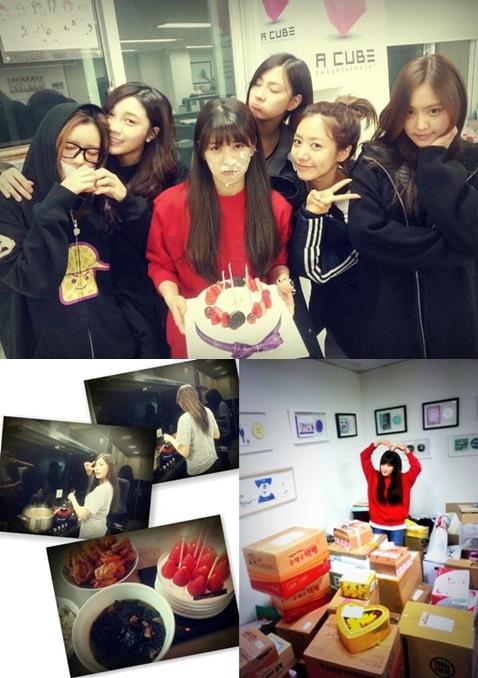 A pinkチョロン、メンバーが準備したケーキとワカメスープで韓国式誕生日パーティー!